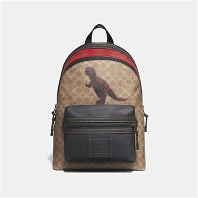 Fashion 4 Coach ACADEMY BACKPACK IN SIGNATURE CANVAS WITH REXY BY SUI JIANGUO