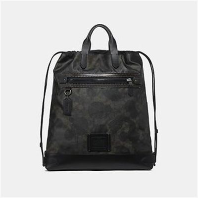Fashion 4 Coach ACADEMY DRAWSTRING BACKPACK IN SIGNATURE CANVAS WITH WILD BEAST PRINT