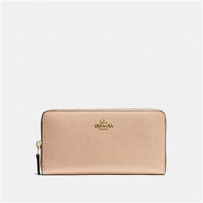 Fashion 4 Coach ACCORDION ZIP WALLET IN POLISHED PEBBLE LEATHER