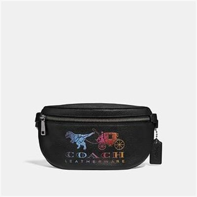 Fashion 4 Coach BELT BAG WITH REXY AND CARRIAGE