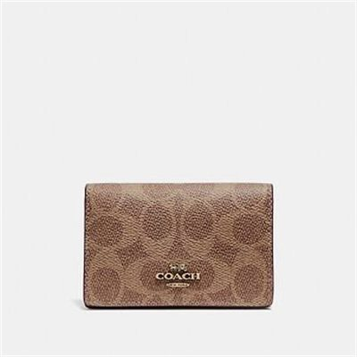 Fashion 4 Coach BUSINESS CARD CASE IN SIGNATURE CANVAS