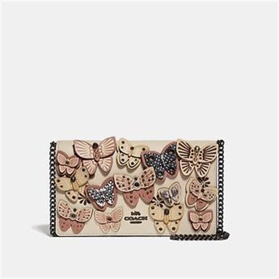 Fashion 4 Coach CALLIE FOLDOVER CHAIN CLUTCH WITH BUTTERFLY APPLIQUE