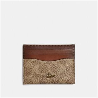 Fashion 4 Coach CARD CASE IN COLORBLOCK SIGNATURE CANVAS