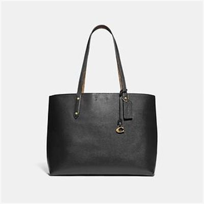 Fashion 4 Coach CENTRAL TOTE WITH SIGNATURE CANVAS BLOCKING