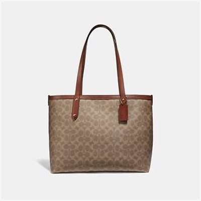 Fashion 4 Coach CENTRAL TOTE WITH ZIP IN SIGNATURE CANVAS