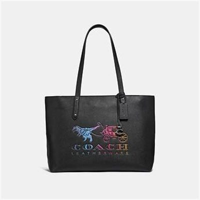 Fashion 4 Coach CENTRAL TOTE WITH ZIP WITH REXY AND CARRIAGE