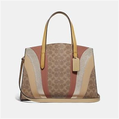 Fashion 4 Coach CHARLIE CARRYALL IN SIGNATURE CANVAS WITH WAVE PATCHWORK