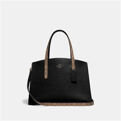 Fashion 4 Coach CHARLIE CARRYALL WITH SIGNATURE CANVAS BLOCKING