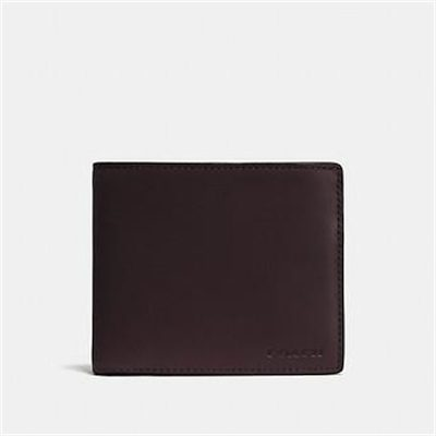Fashion 4 Coach Compact Id Wallet In Leather