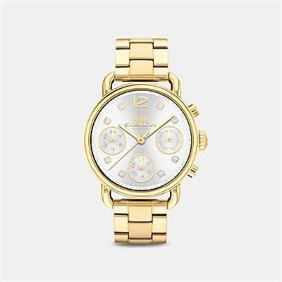 Fashion 4 Coach DELANCEY SPORT 36MM GOLD BRACELET WATCH