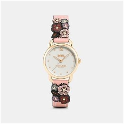 Fashion 4 Coach DELANCEY WATCH WITH FLORAL APPLIQUE