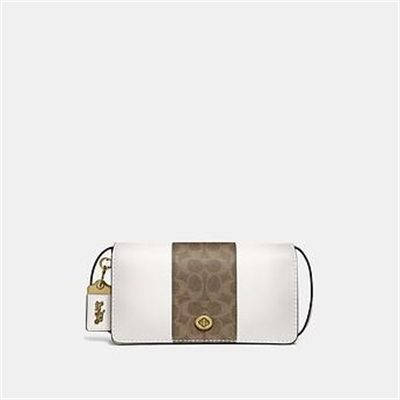 Fashion 4 Coach DINKY WITH SIGNATURE CANVAS BLOCKING