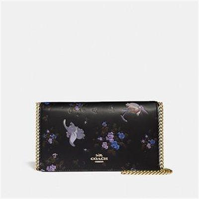 Fashion 4 Coach DISNEY X COACH CALLIE FOLDOVER CHAIN CLUTCH WITH DISNEY MOTIF