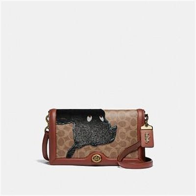 Fashion 4 Coach DISNEY X COACH SIGNATURE RILEY WITH EMBELLISHED PETER PAN