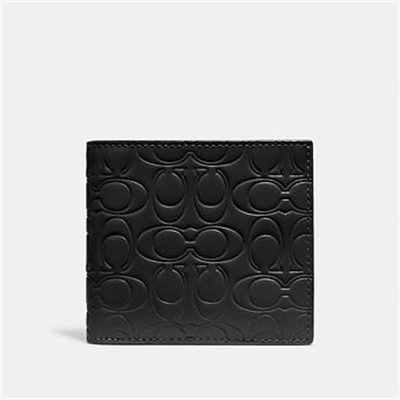 Fashion 4 Coach DOUBLE BILLFOLD WALLET IN SIGNATURE LEATHER