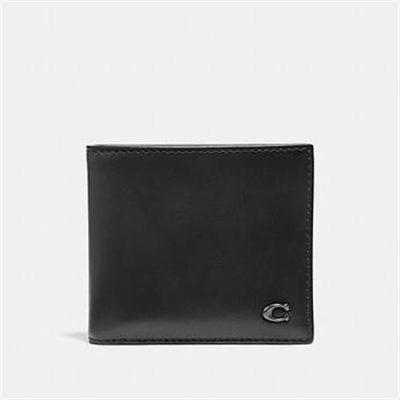 Fashion 4 Coach DOUBLE BILLFOLD WALLET WITH SIGNATURE HARDWARE