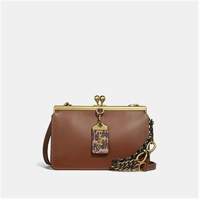 Fashion 4 Coach DOUBLE FRAME BAG 19 WITH SNAKESKIN DETAIL