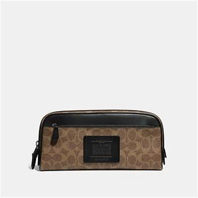 Fashion 4 Coach DOUBLE ZIP DOPP KIT IN SIGNATURE CANVAS