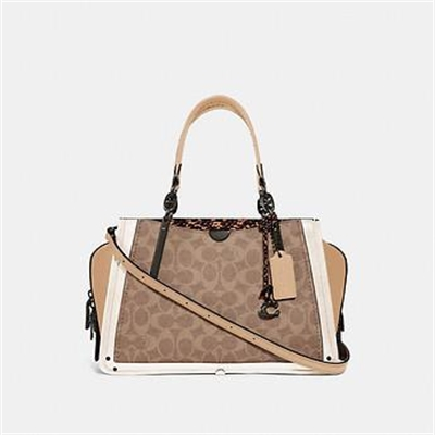 Fashion 4 Coach DREAMER IN SIGNATURE CANVAS WITH SNAKESKIN DETAIL