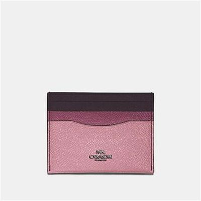 Fashion 4 Coach FLAT CARD CASE IN COLORBLOCK LEATHER