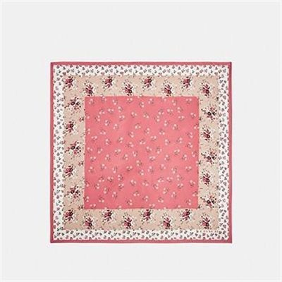 Fashion 4 Coach FLORAL BOW PRINT SILK SQUARE SCARF