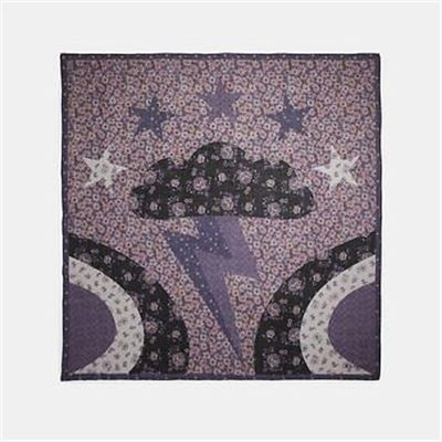 Fashion 4 Coach GLAM ROCK PATCHWORK OVERSIZED SQUARE SCARF