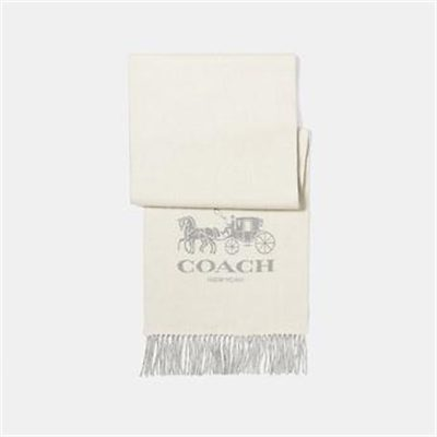 Fashion 4 Coach HORSE AND CARRIAGE BICOLOR CASHMERE MUFFLER