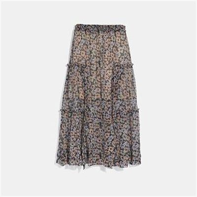 Fashion 4 Coach LONG SKIRT WITH FRONT SLITS