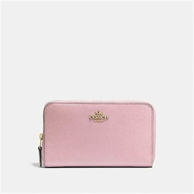 Fashion 4 Coach MEDIUM ZIP AROUND WALLET IN CROSSGRAIN LEATHER