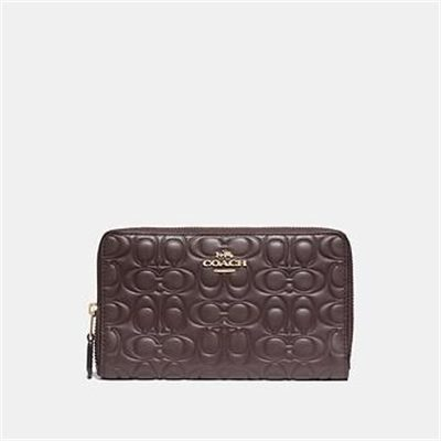 Fashion 4 Coach MEDIUM ZIP AROUND WALLET IN SIGNATURE LEATHER