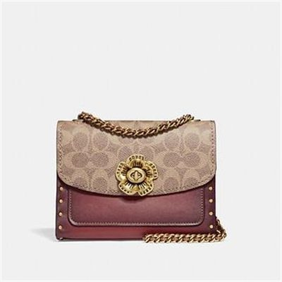 Fashion 4 Coach PARKER 18 IN SIGNATURE CANVAS WITH BORDER RIVETS