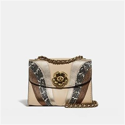 Fashion 4 Coach PARKER 18 WITH WAVE PATCHWORK AND SNAKESKIN DETAIL