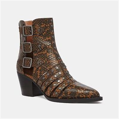 Fashion 4 Coach PHEOBE BOOTIE IN SNAKESKIN