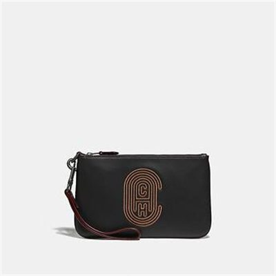 Fashion 4 Coach PHONE POUCH WITH COACH PATCH