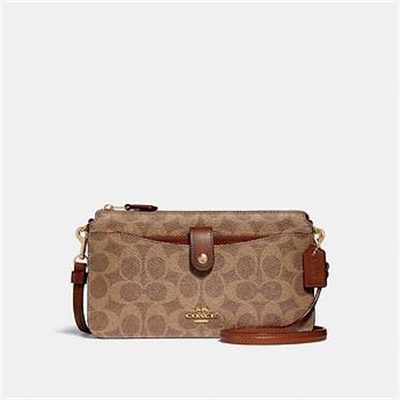 Fashion 4 Coach POP-UP MESSENGER IN COLORBLOCK SIGNATURE CANVAS