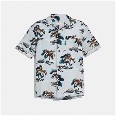 Fashion 4 Coach PRINTED PAJAMA SHIRT