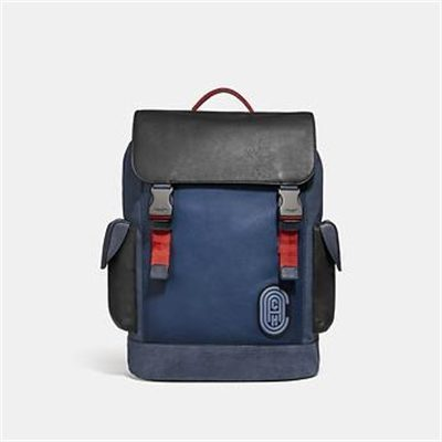 Fashion 4 Coach RIVINGTON BACKPACK IN COLORBLOCK WITH COACH PATCH