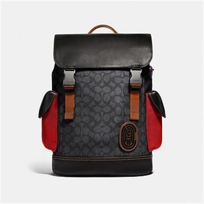 Fashion 4 Coach RIVINGTON BACKPACK IN SIGNATURE CANVAS WITH COACH PATCH