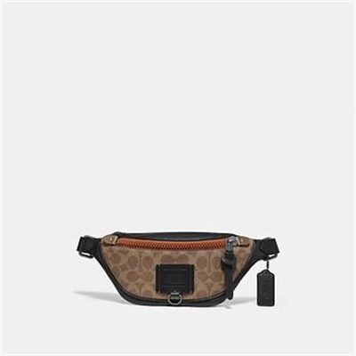 Fashion 4 Coach RIVINGTON BELT BAG 7 IN SIGNATURE CANVAS