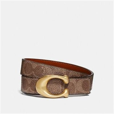 Fashion 4 Coach SCULPTED SIGNATURE REVERSIBLE BELT IN SIGNATURE CANVAS