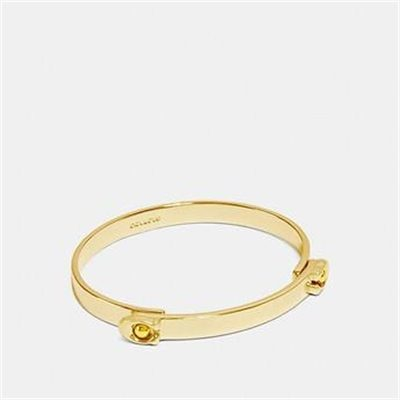 Fashion 4 Coach SCULPTED SIGNATURE TENSION HINGED BANGLE