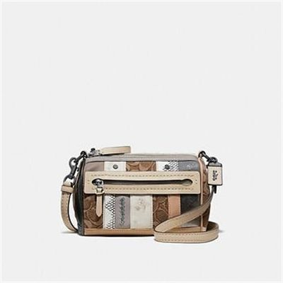 Fashion 4 Coach SHUFFLE 21 IN MULTI STRIPE SIGNATURE JACQUARD