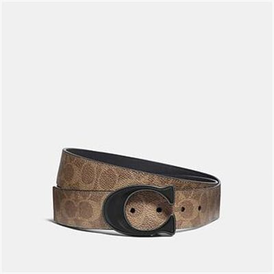Fashion 4 Coach SIGNATURE BUCKLE CUT-TO-SIZE REVERSIBLE BELT IN SIGNATURE CANVAS