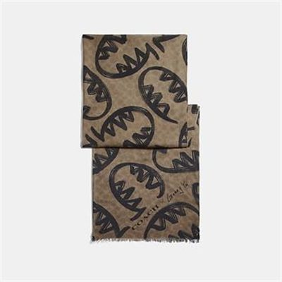 Fashion 4 Coach SIGNATURE SCARF WITH REXY BY GUANG YU