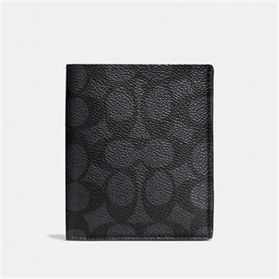 Fashion 4 Coach SLIM WALLET IN SIGNATURE CANVAS