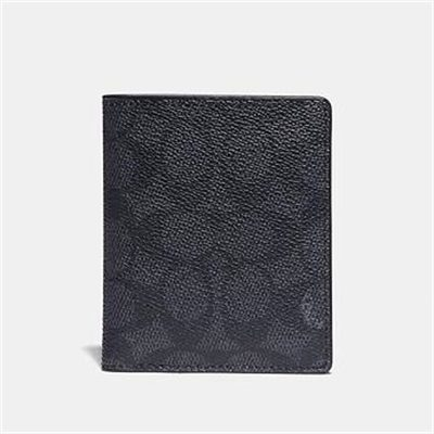 Fashion 4 Coach SLIM WALLET WITH SIGNATURE CANVAS BLOCKING