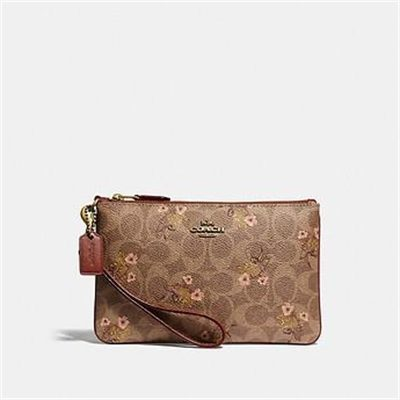 Fashion 4 Coach SMALL WRISTLET IN SIGNATURE CANVAS WITH FLORAL BOW PRINT