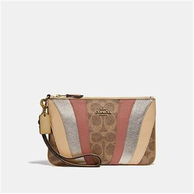 Fashion 4 Coach SMALL WRISTLET IN SIGNATURE CANVAS WITH WAVE PATCHWORK