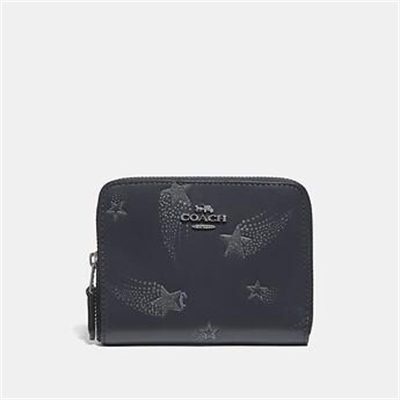 Fashion 4 Coach SMALL ZIP AROUND WALLET WITH STAR PRINT