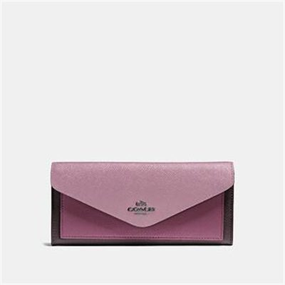 Fashion 4 Coach SOFT WALLET IN COLORBLOCK LEATHER